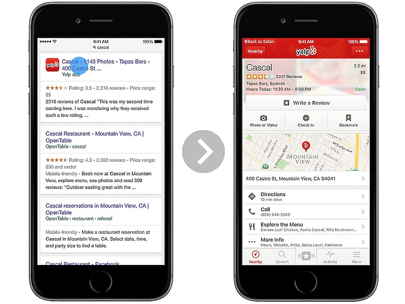 Google Search Adds App Indexing Support in Safari on iOS 9