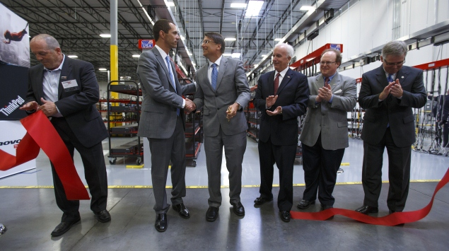 Lenovo opens first manufacturing facility in US