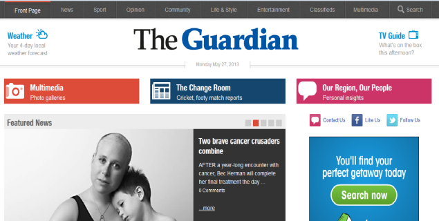Guardian newspaper says China has partially blocked access to its website