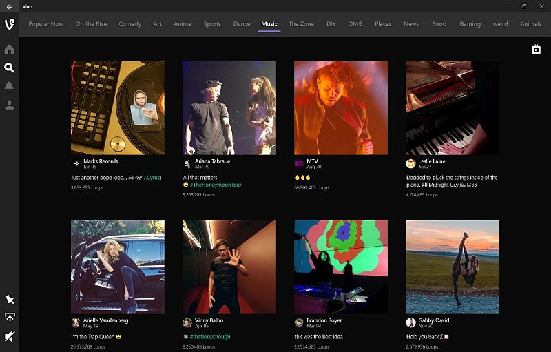Vine Launches It First App for Windows 10 PCs and Tablets