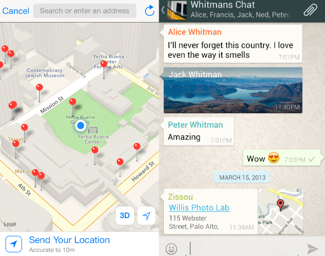 how do i send my location on iphone how to location on whatsapp ndtv gadgets360 20699