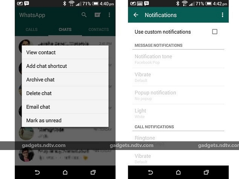 WhatsApp for Android Update Rolls Out With Custom Notifications and More