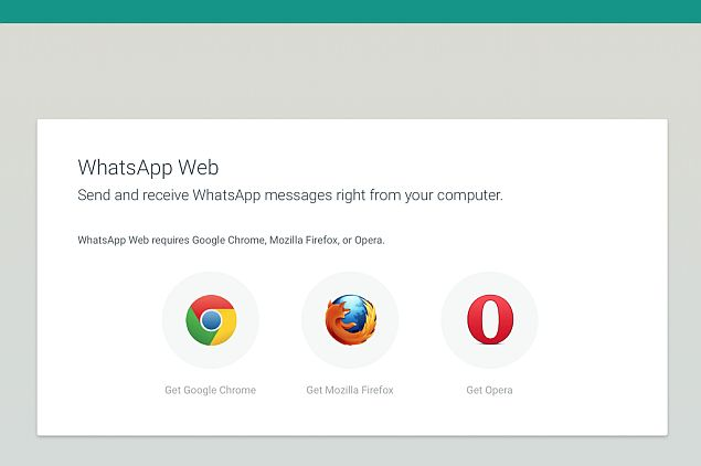 WhatsApp Web Now Works on Firefox and Opera Browsers