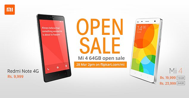 Xiaomi Mi 4 64GB Variant Open Sale on Saturday