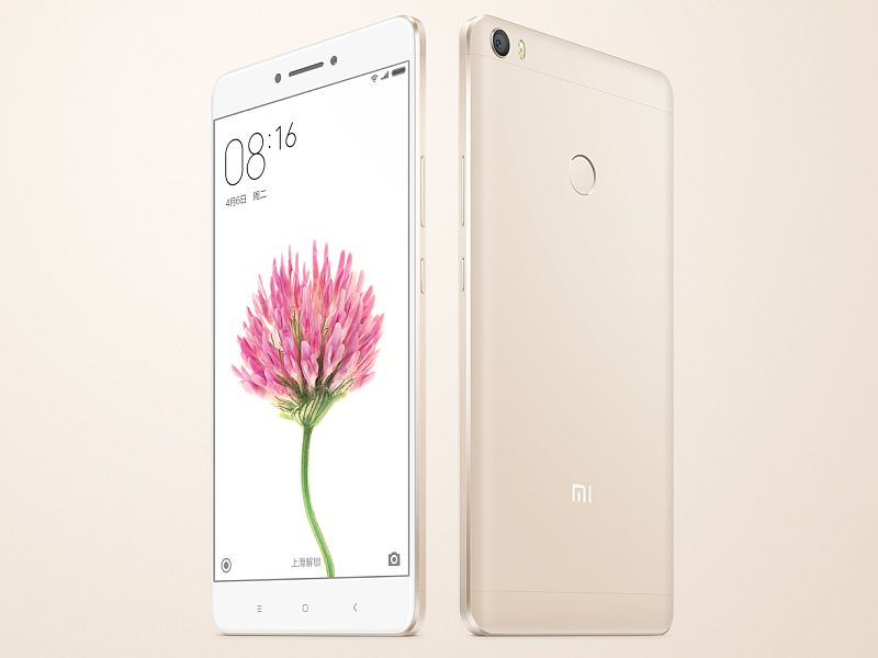 Xiaomi Mi Max With 6.44-Inch Display, Fingerprint Sensor Launched