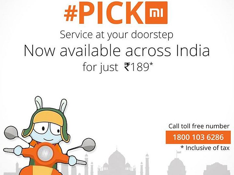 Xiaomi PickMi Doorstep Pick Up and Drop Service Launched at Rs. 189