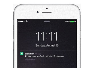 Yahoo Weather Now Alerts Users 15 Minutes Before Rain or